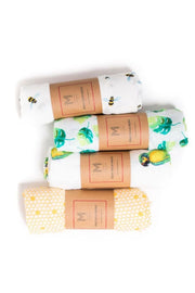 Organic Cotton Muslin Essential Baby Set