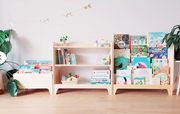 Montessori Retro Natural Low Shelf Cabinet