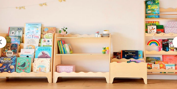 Montessori Tall Bookshelf White