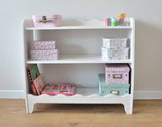 Montessori Cabinet Shelf Boho White