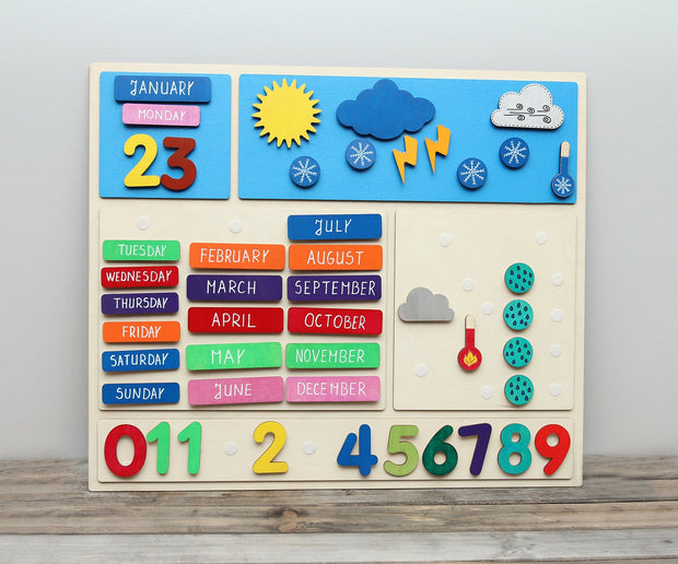 Wooden Weather Calendar
