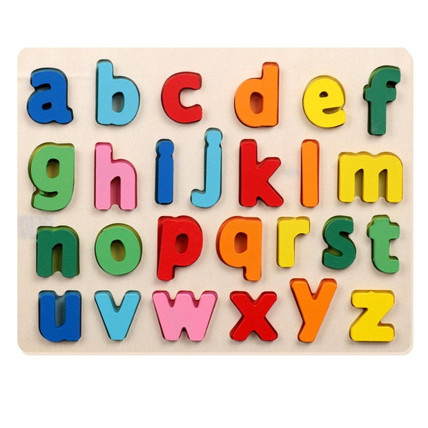 Montessori Wooden Alphabet Small Letters