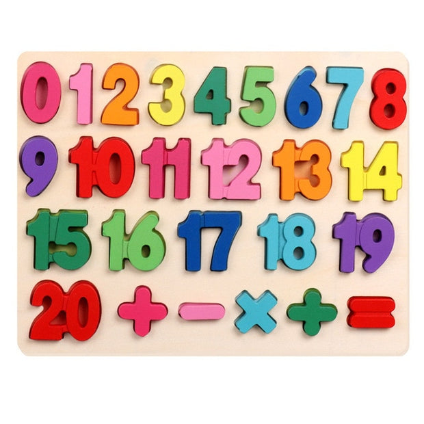 Montessori Wooden 3D Number 1-20