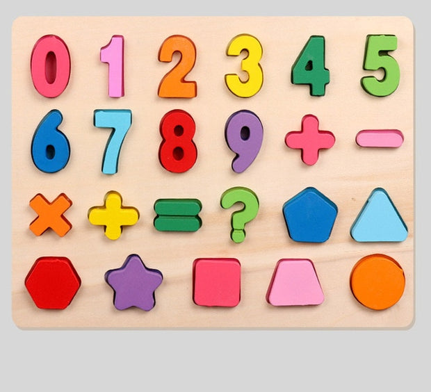 Montessori Wooden Number 1-9