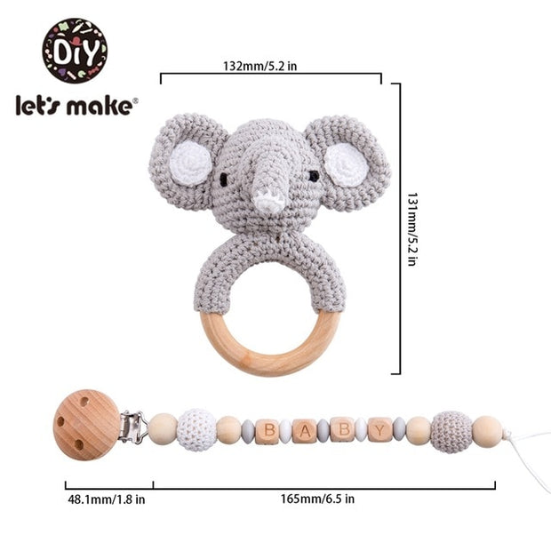 Crochet Rattle and Clip