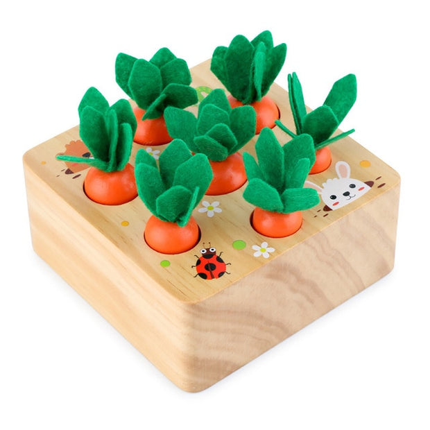 Montessori Wooden Set Pulling Carrot