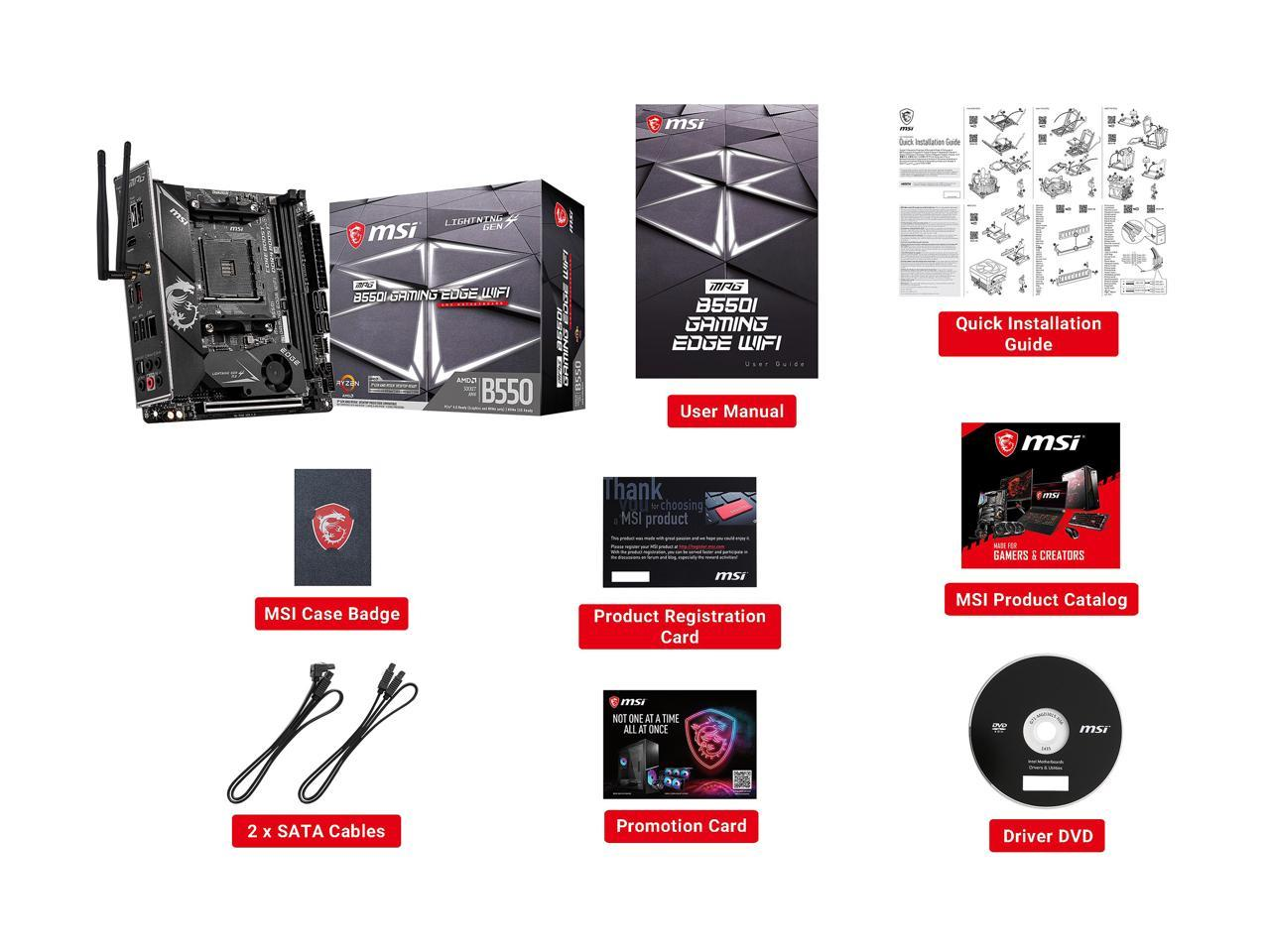 MSI - Geforce RTX 3060 Ti VENTUS 2X OC BV - 8GB GDDR6 - PCI Express 4.0 -  + MSI B550I GAMING EDGE MOBO BUNDLE