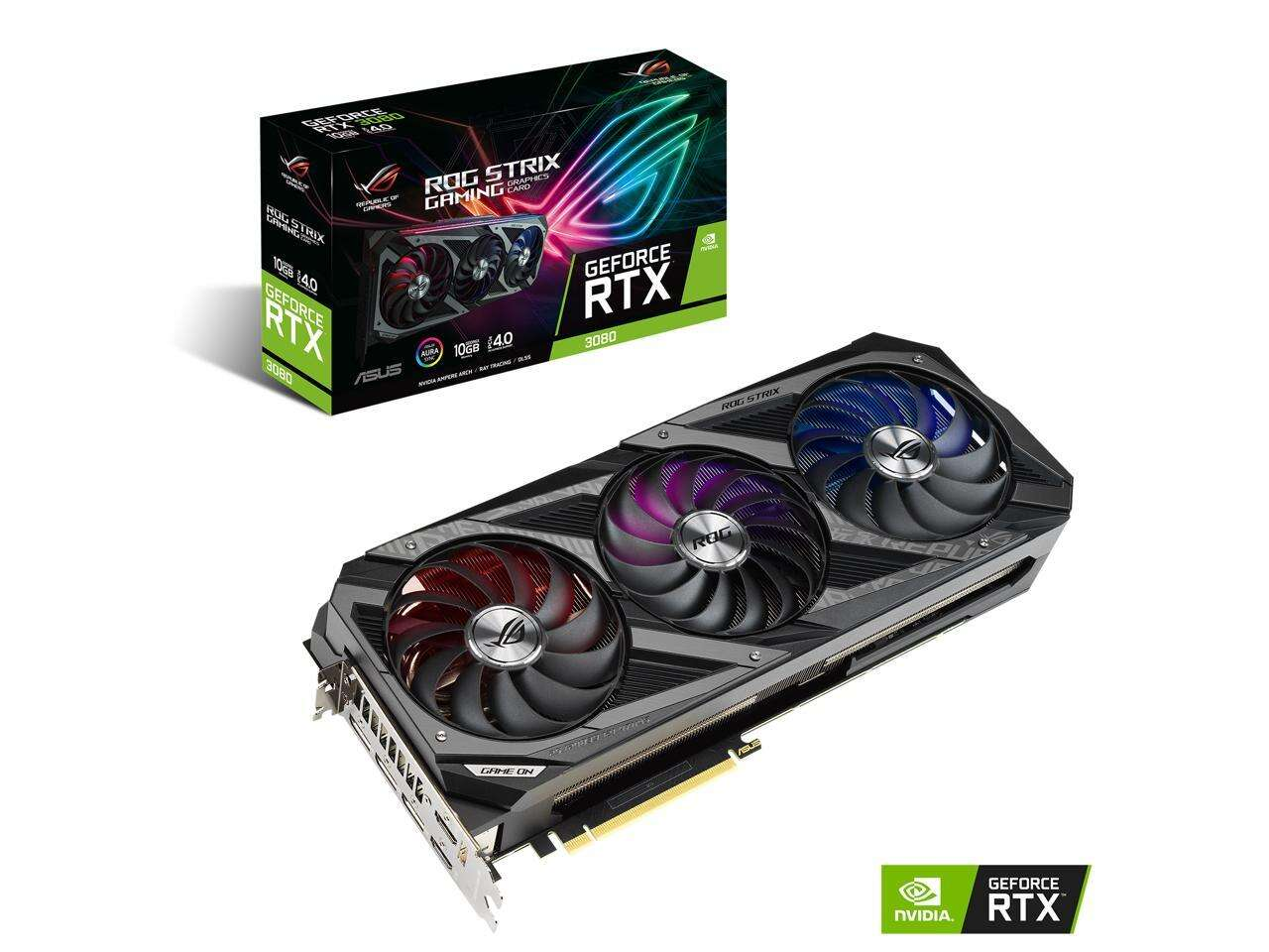 ASUS ROG Strix GeForce RTX 3080 DirectX 12 GAMING 10GB BACKORDER