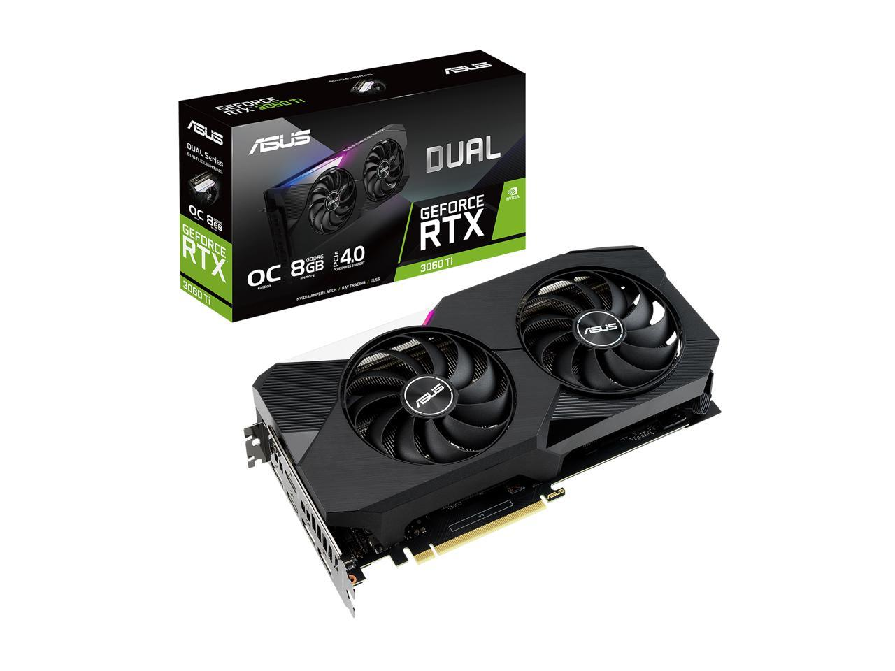 ASUS Geforce RTX 3060 Ti 8GB Dual Video Graphics Card  BACKORDER