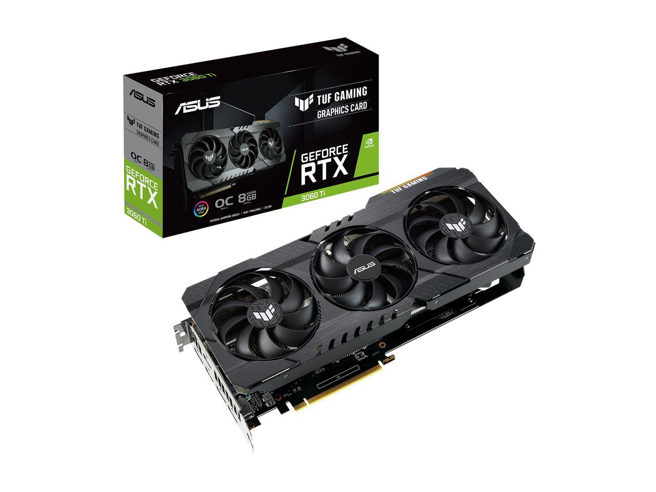ASUS Geforce RTX 3060 TUF TI 8GB GAMING Video Graphics Card BACKORDER
