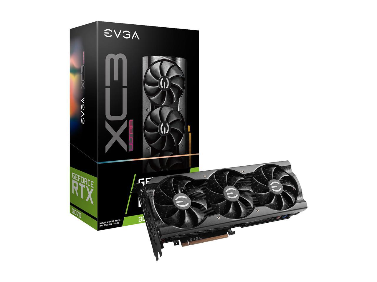 EVGA Video Card  GeForce RTX 3070 XC3 ULTRA 8GB GDDR6 iCX3 Cooling ARGB + 400 PSU EVGA + 80mm Fractal SSR3 Fan Bundle