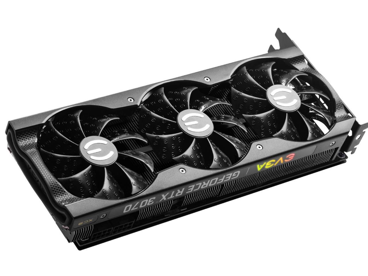 EVGA Video Card  GeForce RTX 3070 XC3 ULTRA 8GB GDDR6 iCX3 Cooling ARGB + 550w PSU EVGA Bundle INSTOCK