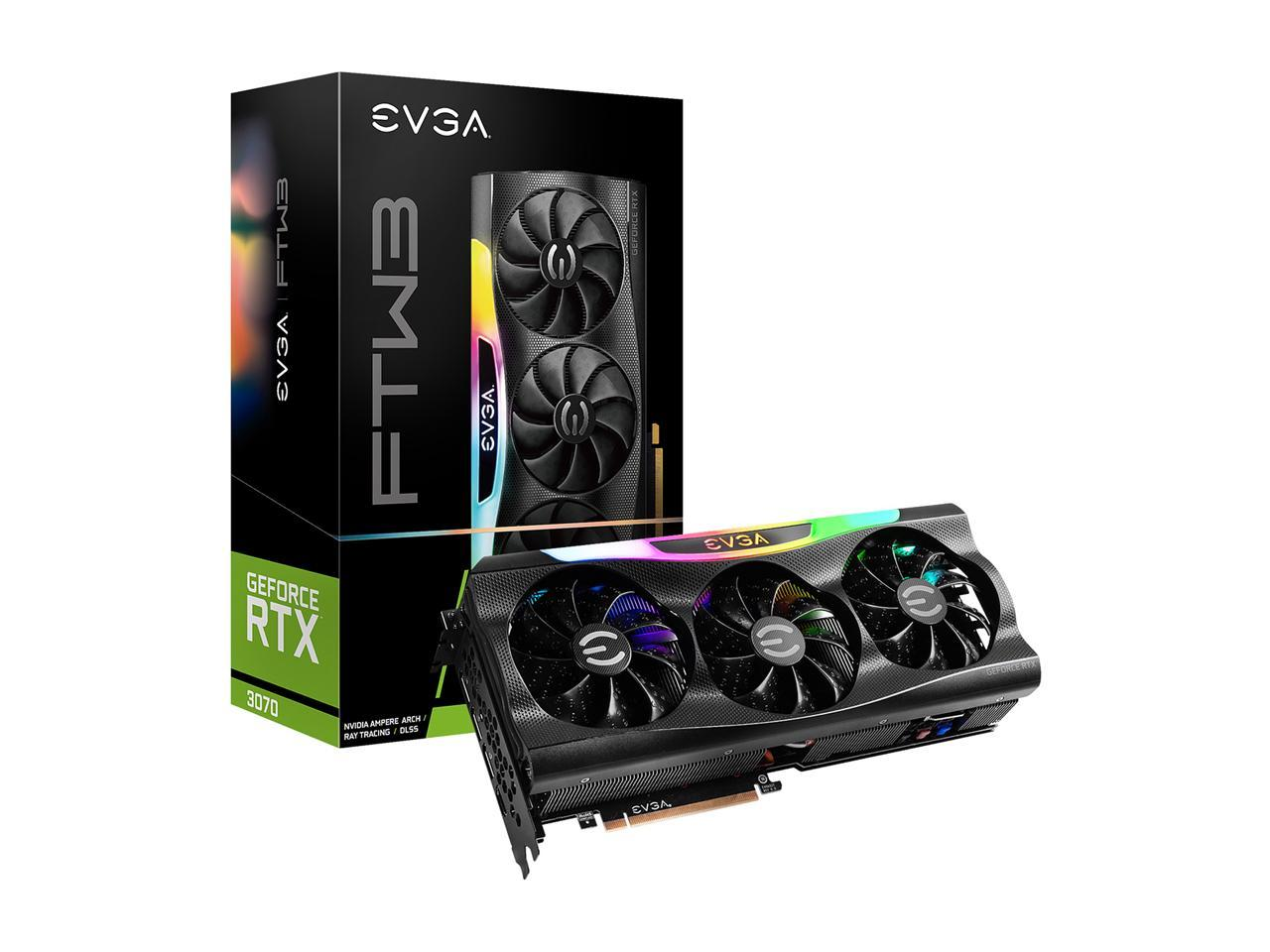EVGA VCX 08G-P5-3765-KR GeForce RTX 3070 FTW3 GAMING+ 400 PSU EVGA Bundle IN STOCK