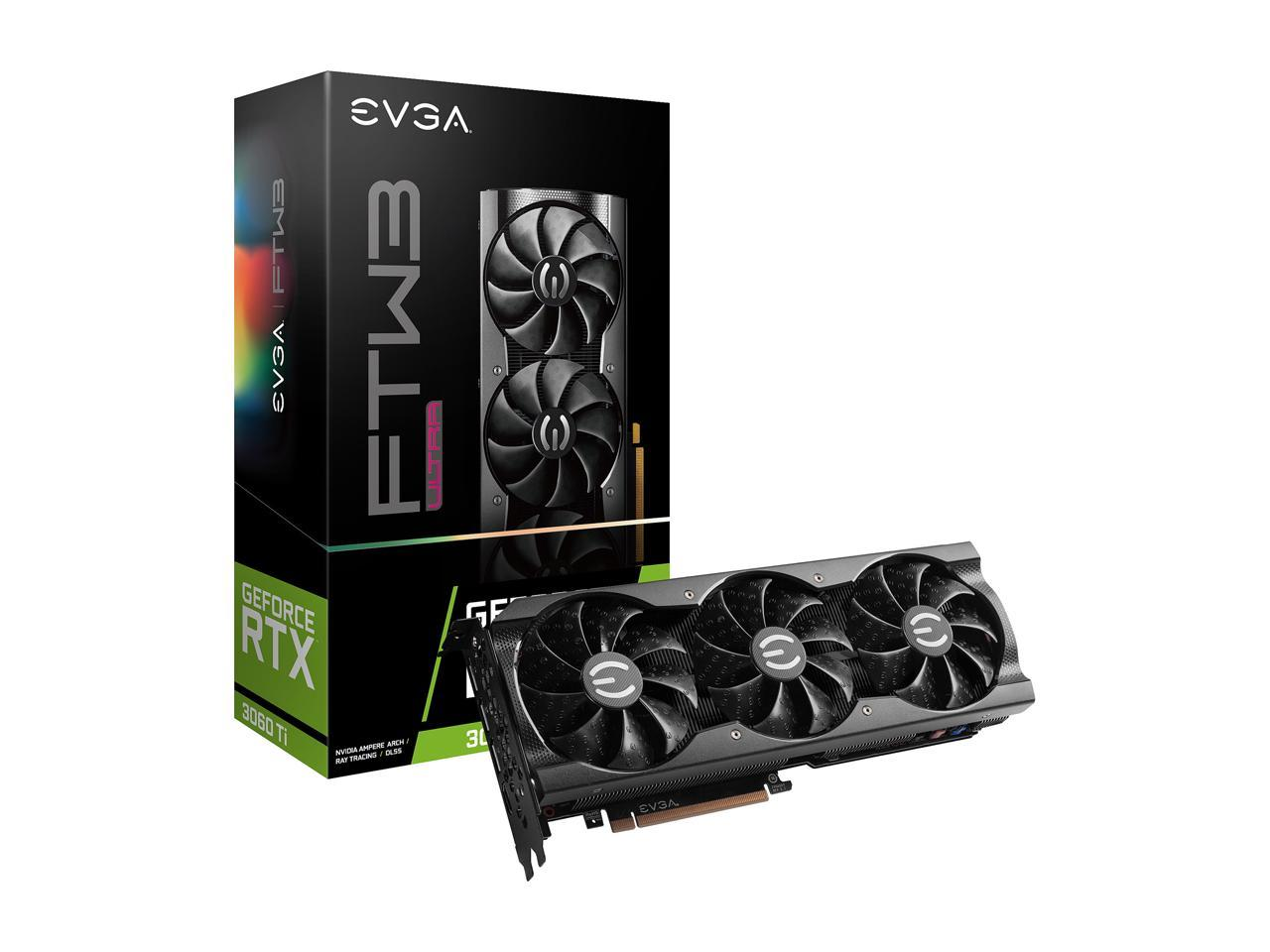 EVGA GeForce RTX 3060 Ti FTW ULTRA GAMING Video Card, 08G-P5-3667-KR, 8GB GDDR6, iCX3 Cooling, ARGB LED + 400W PSU Bundle BACKORDER