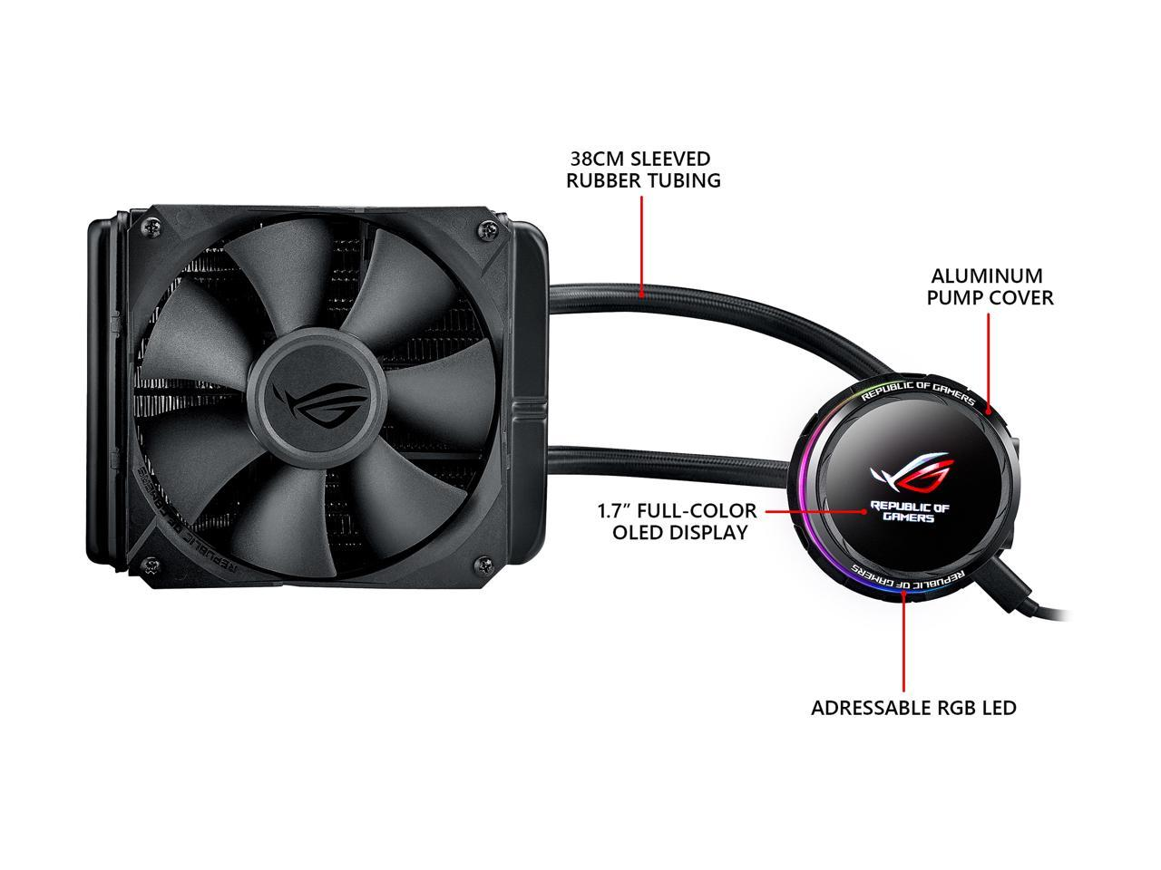 SAPPHIRE NITRO+ AMD RADEON RX 6900 XT OC Gaming Graphics Card WITH 16GB GDDR6, 11308-01-20G +  ASU FN ROG RYUO 120 AIO liquid BUNDLE