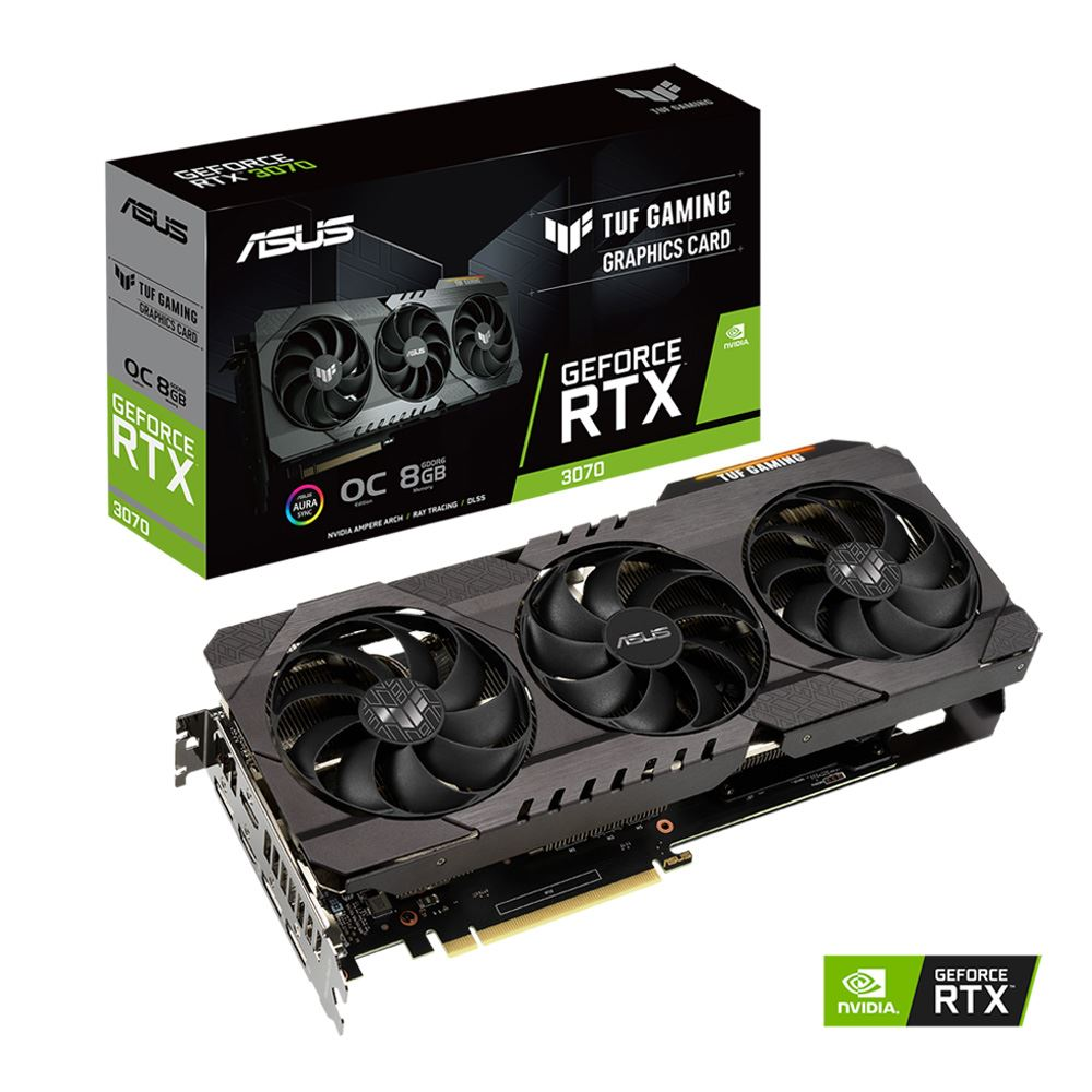 ASUS GeForce RTX 3070 TUF OC + EVGA 400 Watt PSU Bundle IN STOCK