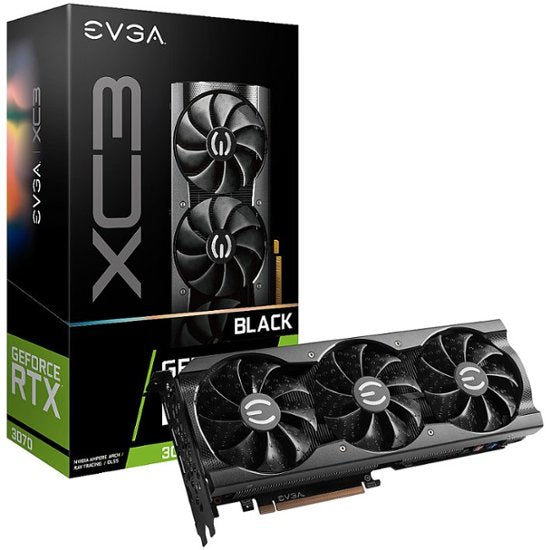 EVGA 3070 XC3 BLACK 8GB GDDR6 iCX3 Cooling ARGB + 400W PSU Bundle BACKORDER