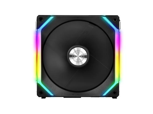 LIAN LI UNI FAN SL140 RGB BLACK 2X 14CM FAN PACK WITH CONTROLLER ---UF-SL140-2B