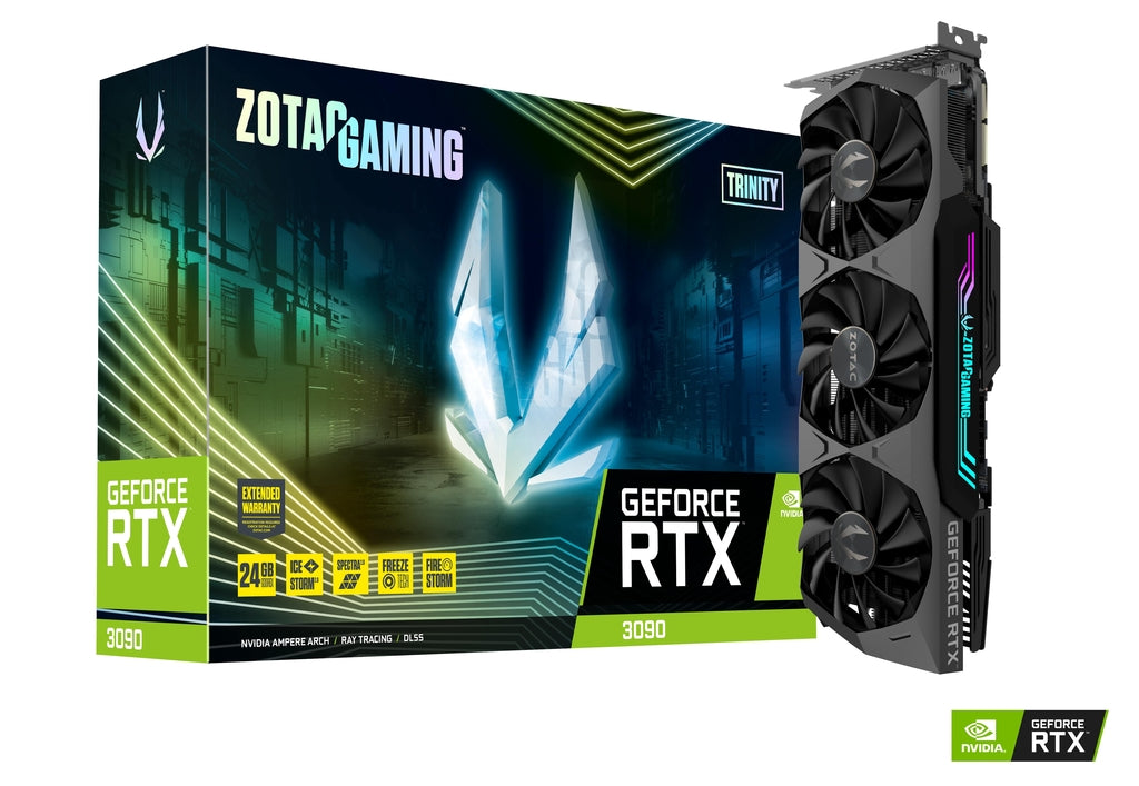 ZOTAC GAMING NVIDIA GeForce RTX 3090 Trinity + ASUS ROG RYUO 120 RGB AIO Liquid CPU Cooler  Bundle IN STOCK