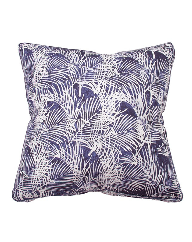 Midnight Bangalow Palm Cushion 55x55