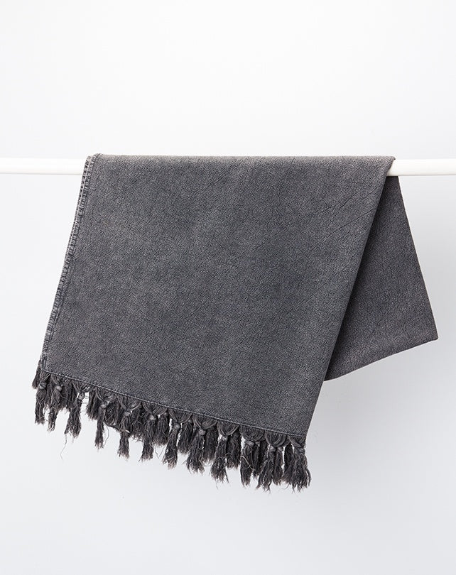 Charcoal Vintage Wash Bath Towel