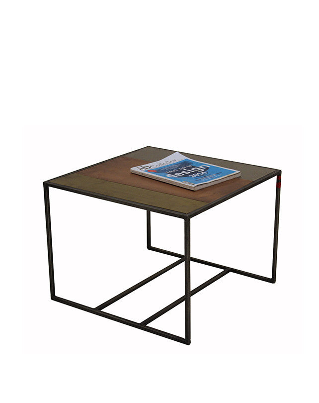 Tricolor Metal Side Table