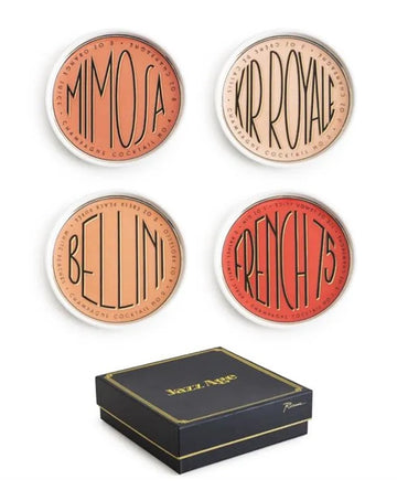Jazz Age Cocktail Coasters