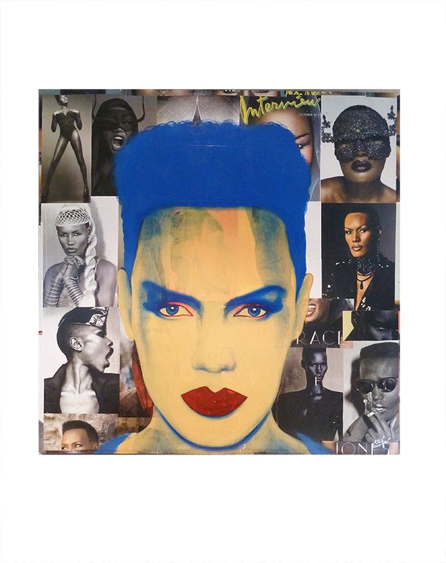 Grace Jones Pop Art Painting
