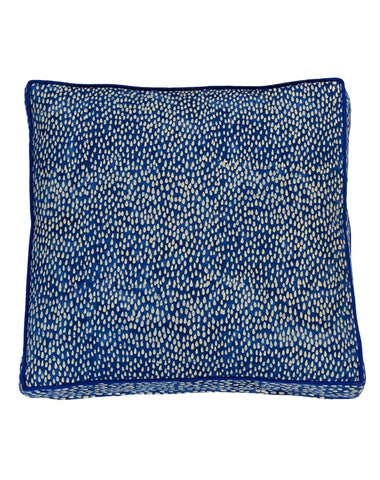 Summer Indigo Rain Gusset Cushion 50x50