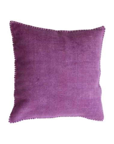 Blanket Stitch Cushion (Purple) 50x50