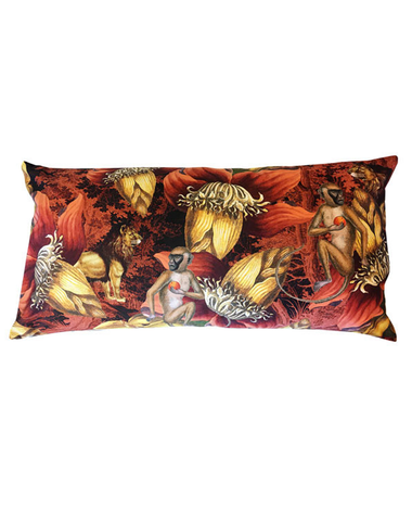 Velvet Cushion Terracotta Jungle 40x80