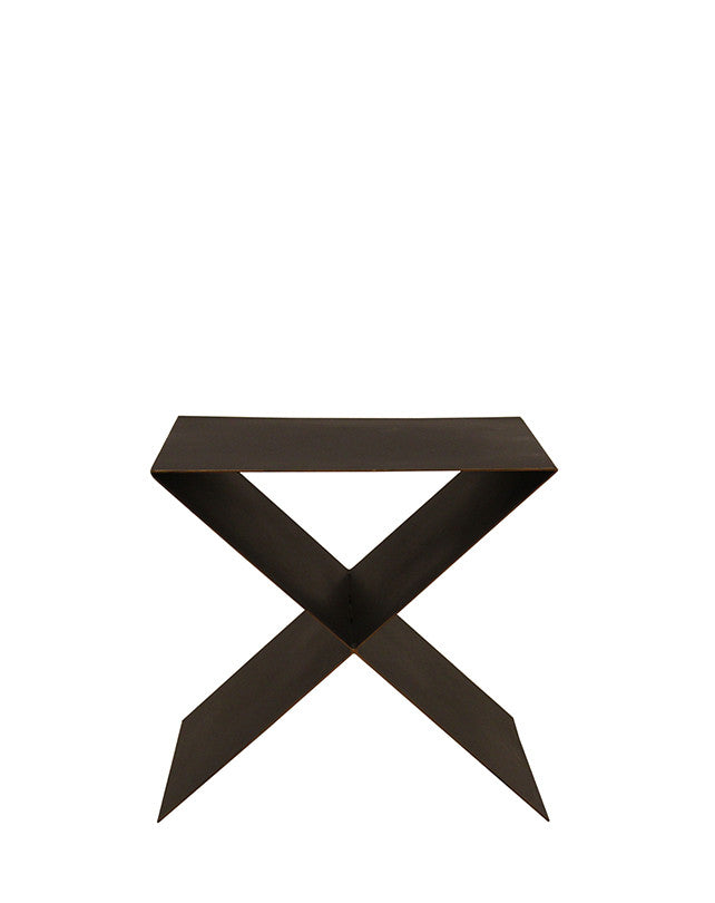 Cross Metal Side Table