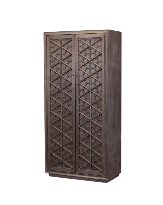Shandong Tall Cabinet 2 drs