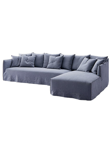 Montauk Slipcover Sofa with Chaise - Ash Grey
