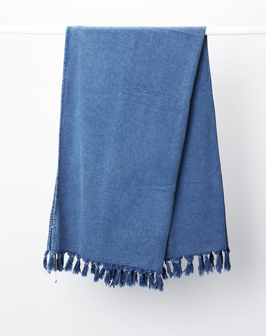 Denim Vintage Wash Bath Towel
