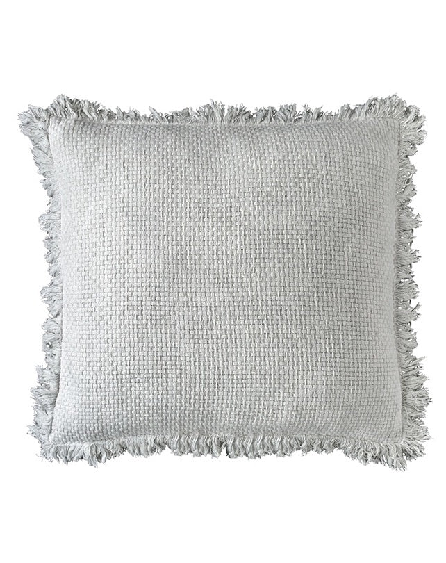 Chelsea Cushion with Fringe White 50x50