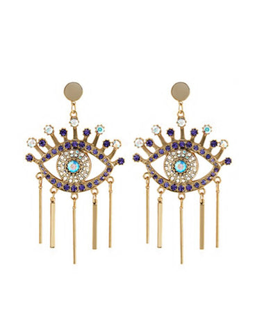 Evil Eyes Dropped Earrings