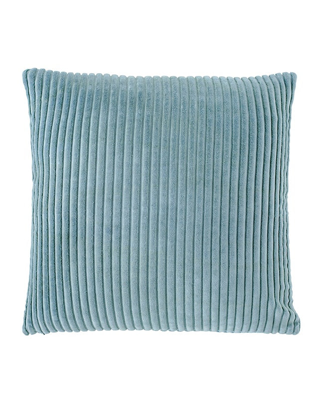 Geant Ribbed Velvet Cushion Sea Mist 50x50