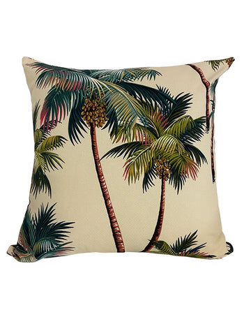 Palm Tree Natural Cushion 50x50