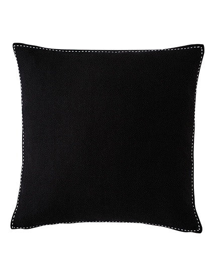 Stitch Black Cushion 50x50
