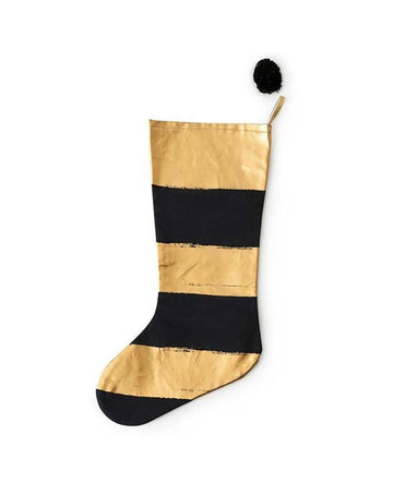 Anything Goes Stocking Stripe Black/Gold