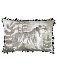 Tiger Cushion Black 60x40