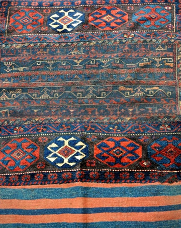 Antique Luri Saddlebag Rug 170x110cm