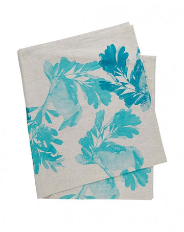 Kookaburra Turquoise Table Cloth