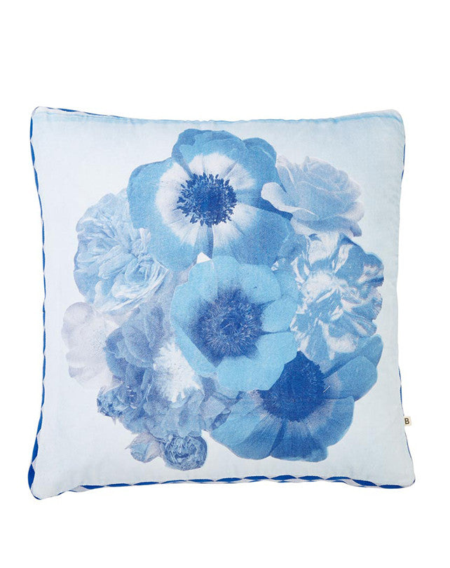 Vintage Posy Blue Cushion 50x50