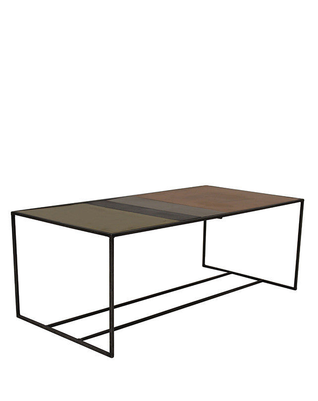 Tricolor Metal Coffee Table