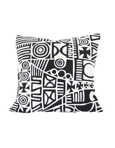 Multi Patterned Black cushion