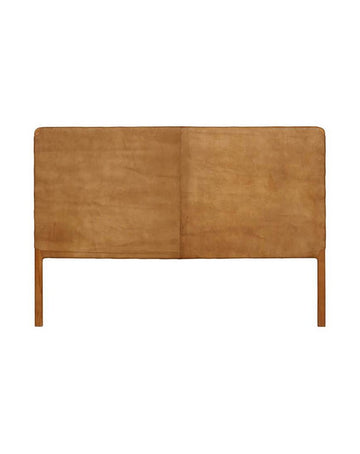 Maya Head Board Flat Leather (Tan)