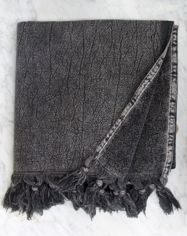 Charcoal Vintage Wash Hand Towel
