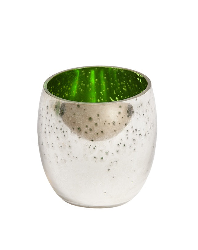 Frosted Green Tealight